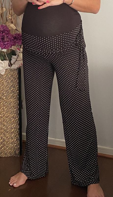 Pantalon Alysa Puntos Negro / Maternal Y Post Parto PANTL PTOS BK S