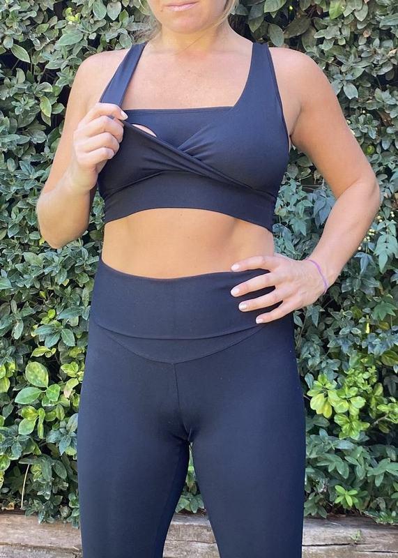 Peto Maternal Y De Lactancia Yoga Negro PETO YOGA BK XL