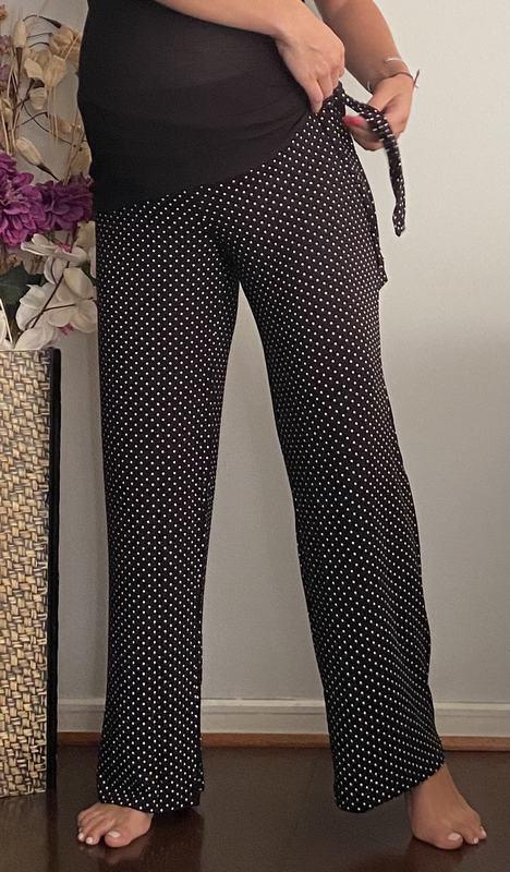 Pantalon Alysa Puntos Negro / Maternal Y Post Parto PANTL PTOS BK L