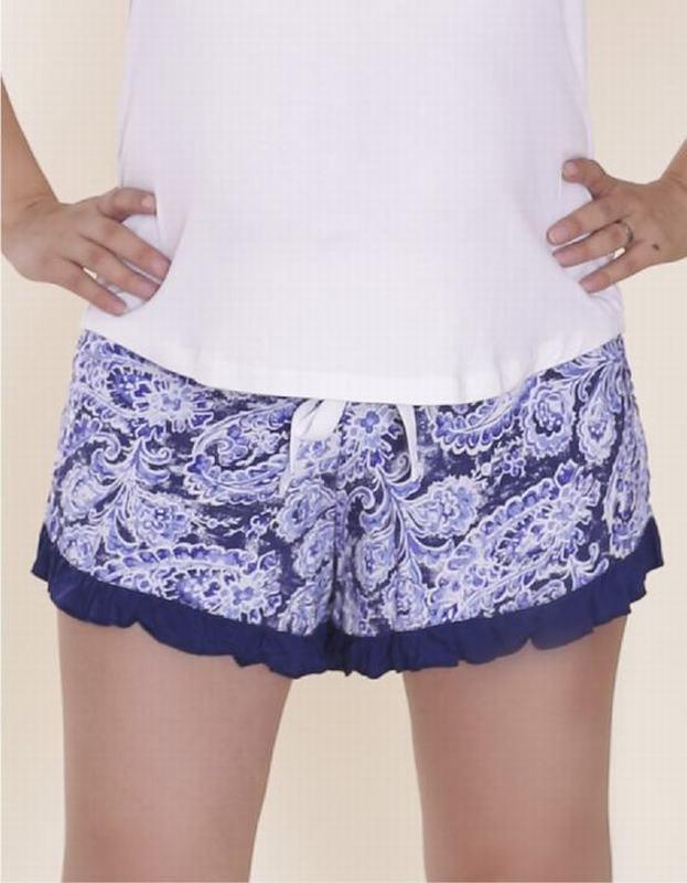 Short Floreado Azul FLO SHORT AZ XL