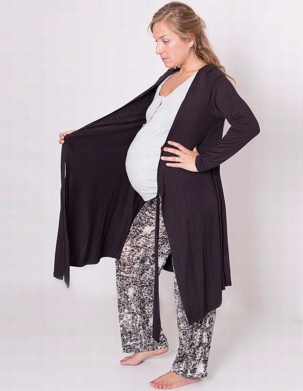 Bata Maternal Rw Robe Bk RW ROBE BK L