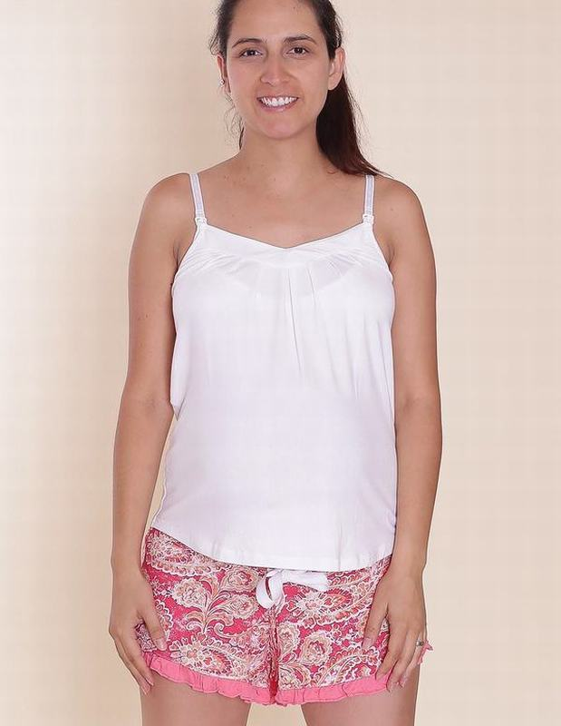 Pijama Butterfly Blanco Floral BT WH SHORT AZ M