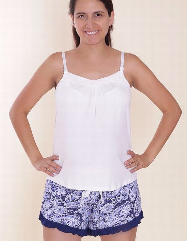 Pijama Butterfly Blanco Floral BT WH SHORT AZ XK