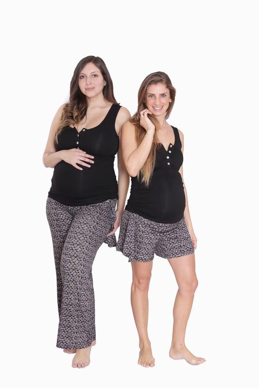 Pijama Maternal Y Lactancia Alysa Negro Estampado PJ ALYSA ENE L