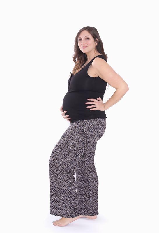 Pijama Maternal Y Lactancia Alysa Negro Estampado PJ ALYSA ENE XL