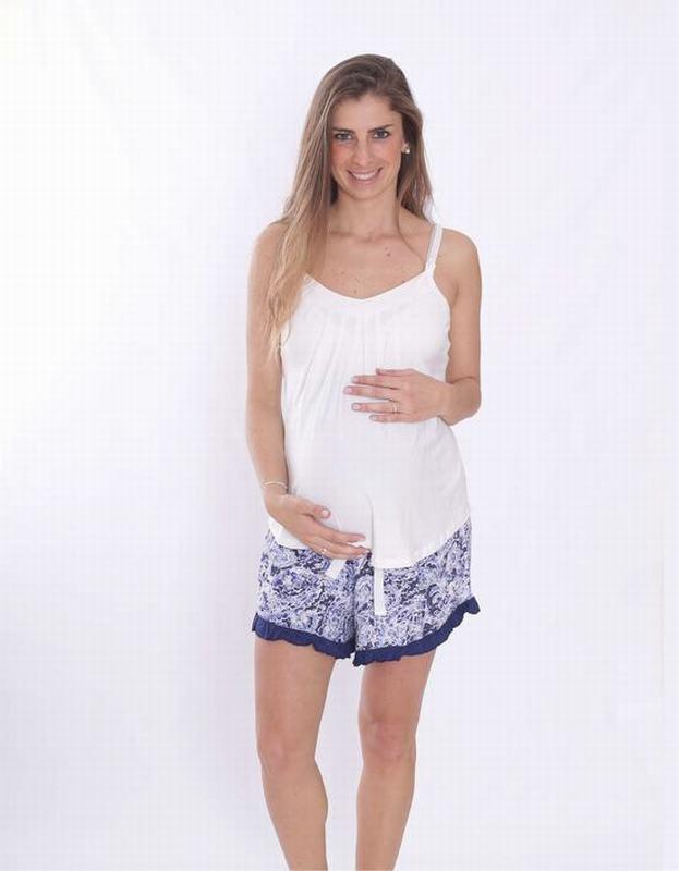 Pijama Butterfly Floreado Azul BT WH FLO SHORT M