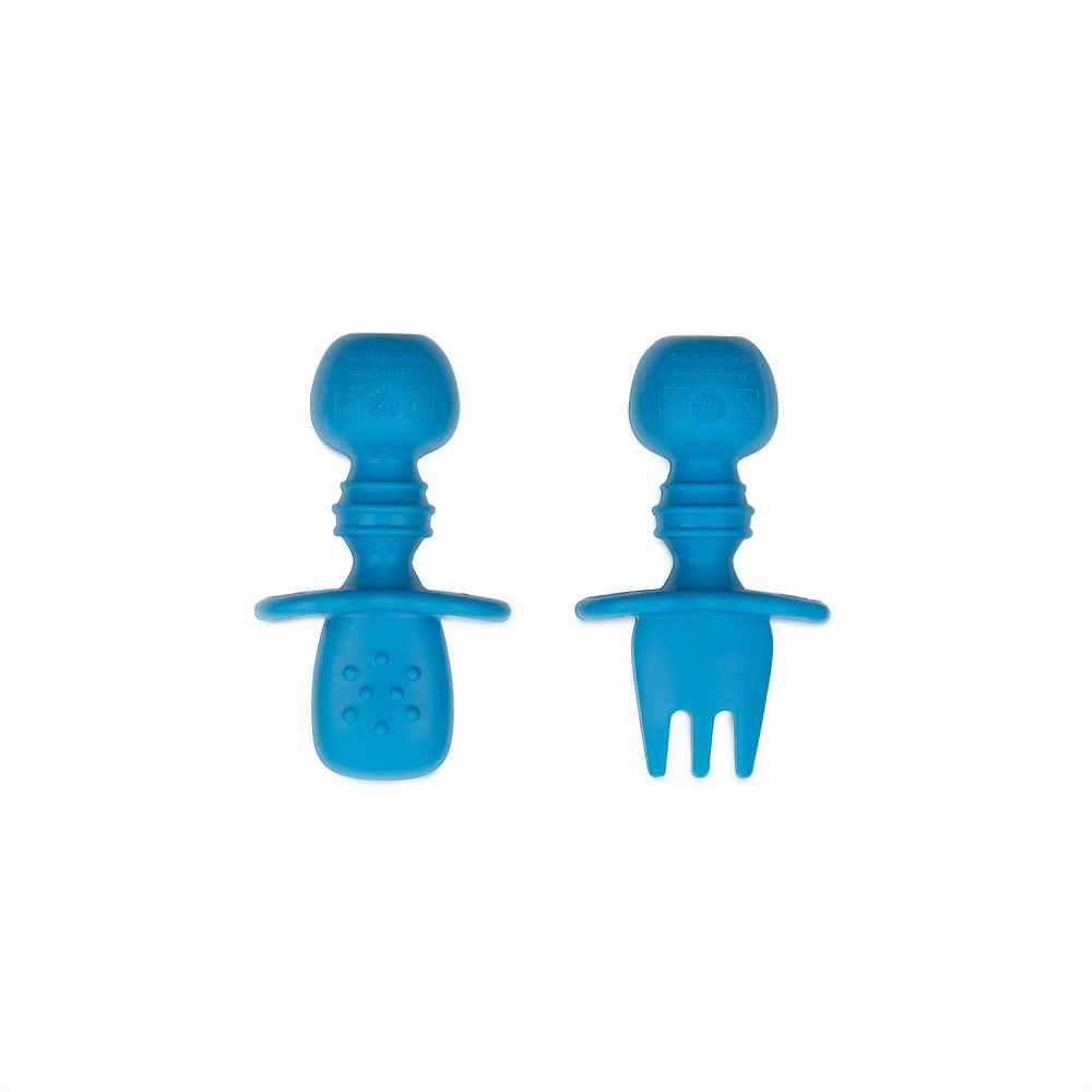 Cuchara y Tenedor Silicona Masticables