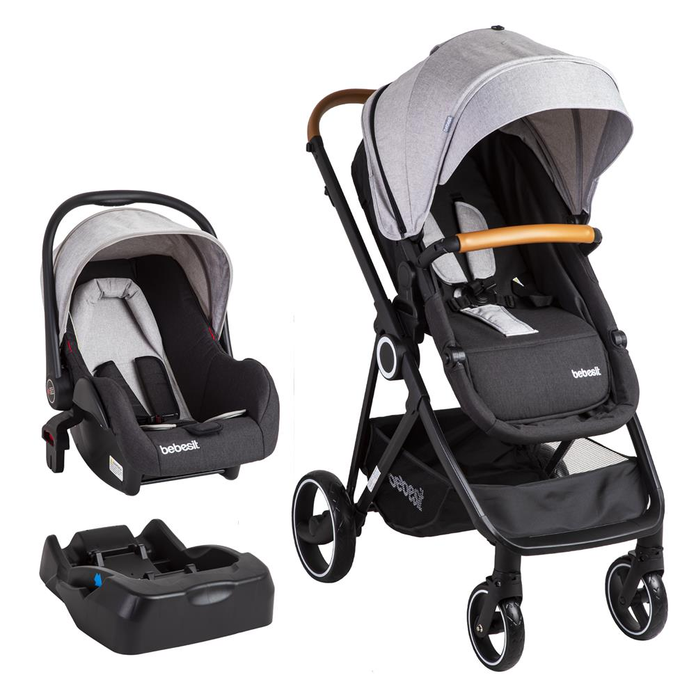 Coche Travel System Cosmos Gris