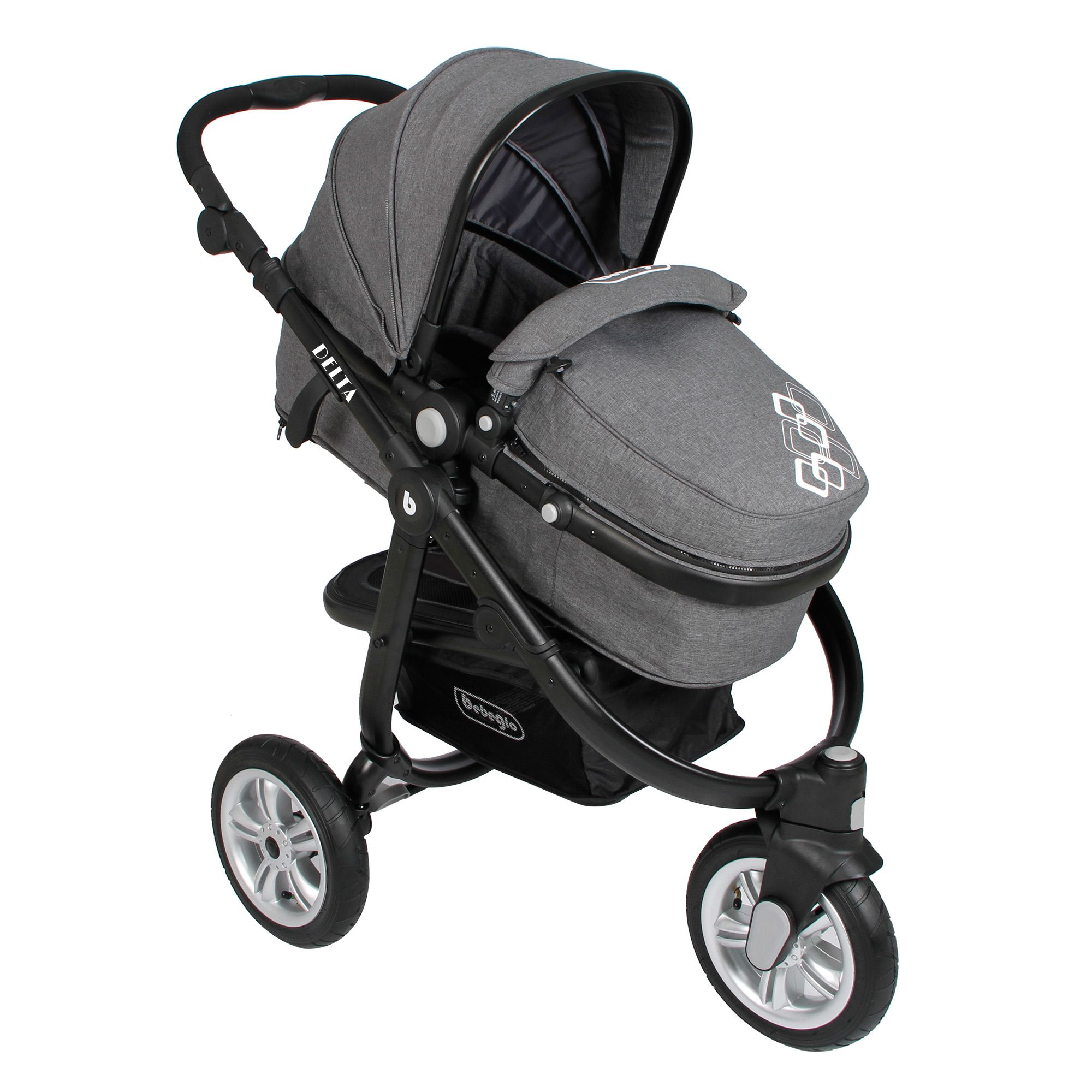 Coche Travel System Delta RS-13750-4 Gris