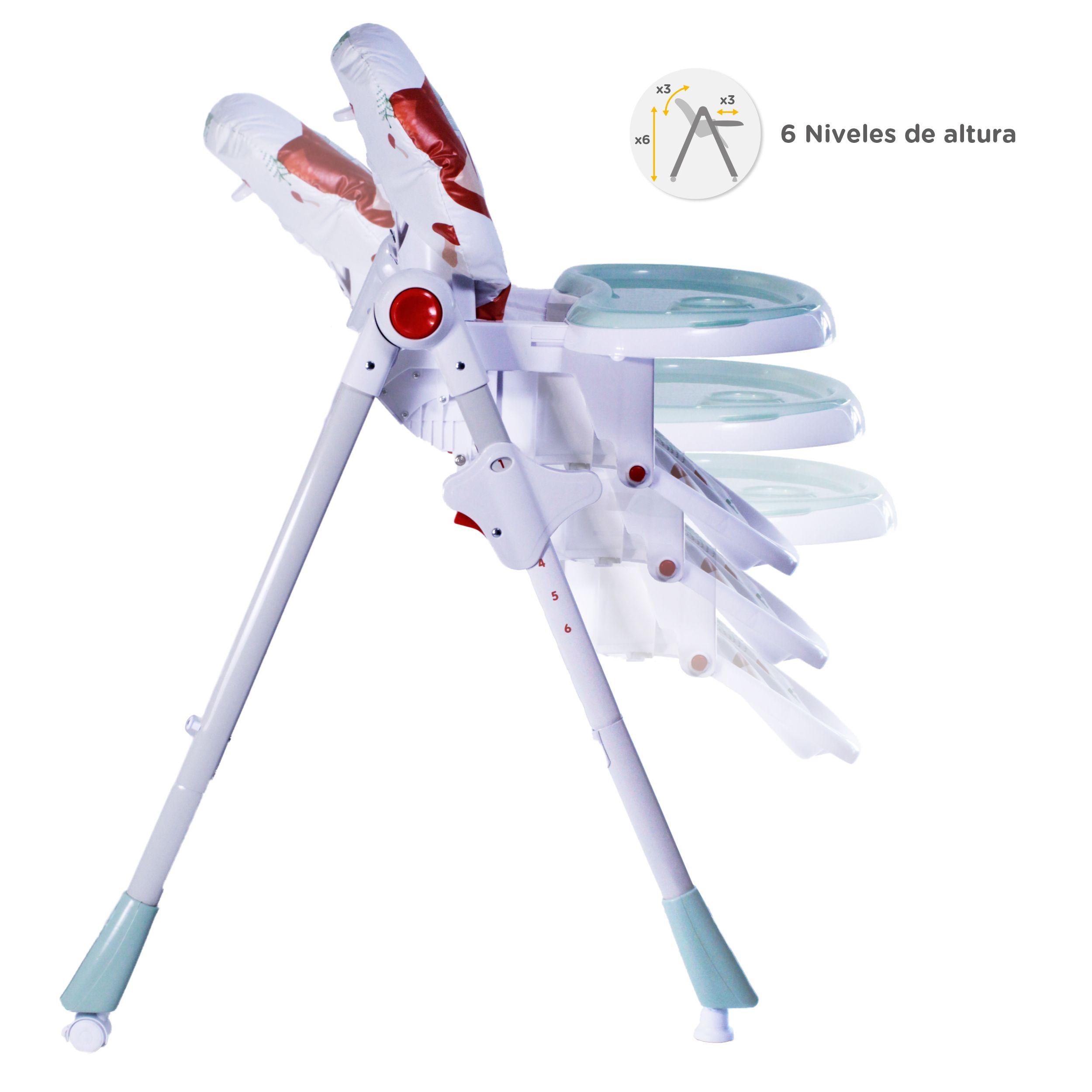 Silla De Comer Plegable 3 En 1 Multicolor Bw-814F21