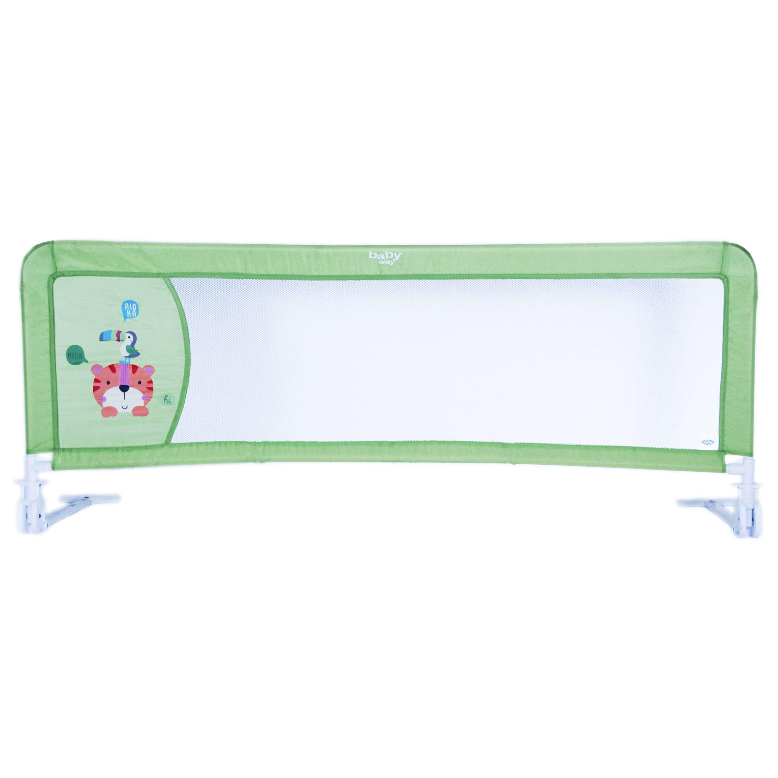 Baranda De Seguridad De Cama 150 Cms Color Verde Baby Way