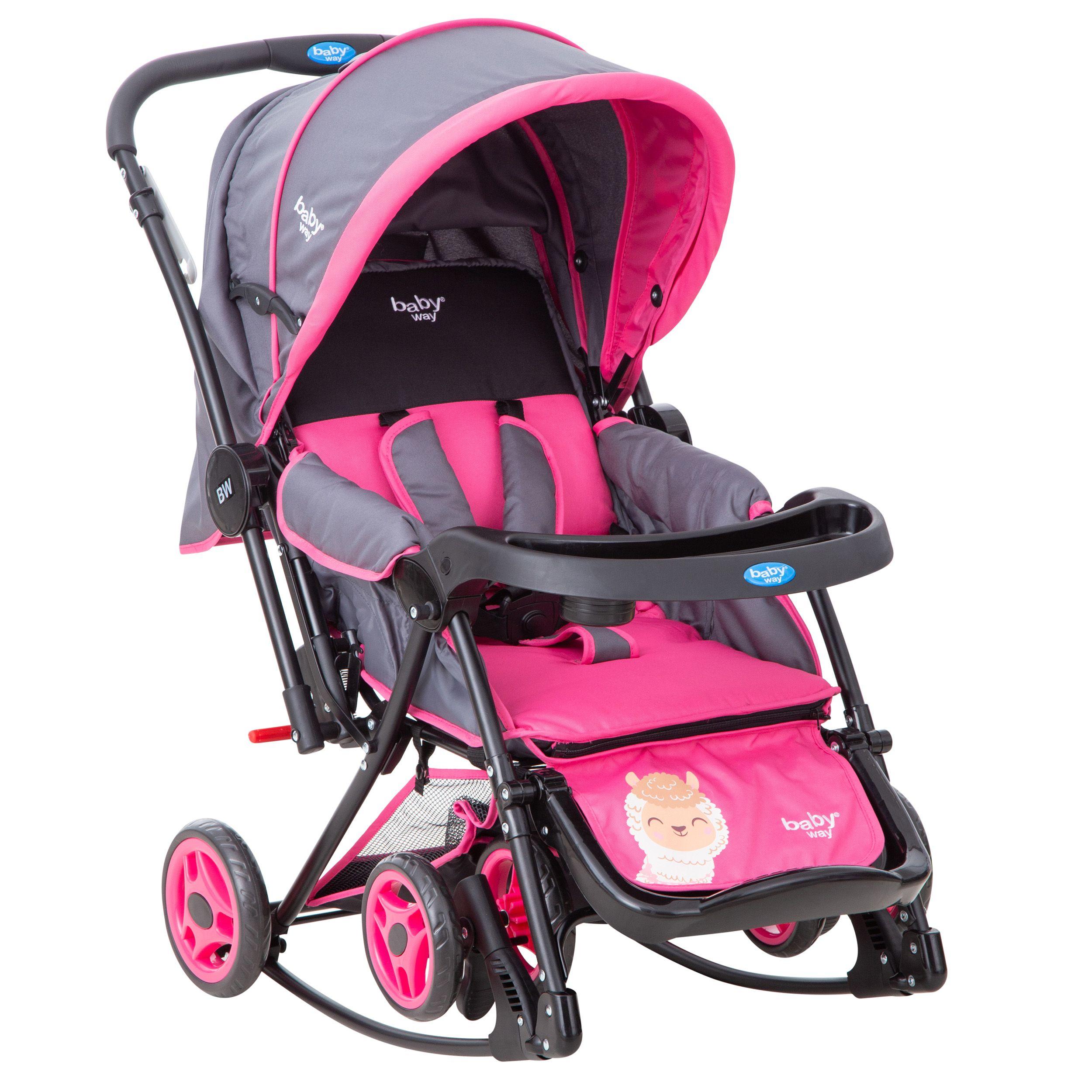 Coche Cuna Balancin Baby Way Fucsia Bw-305F21