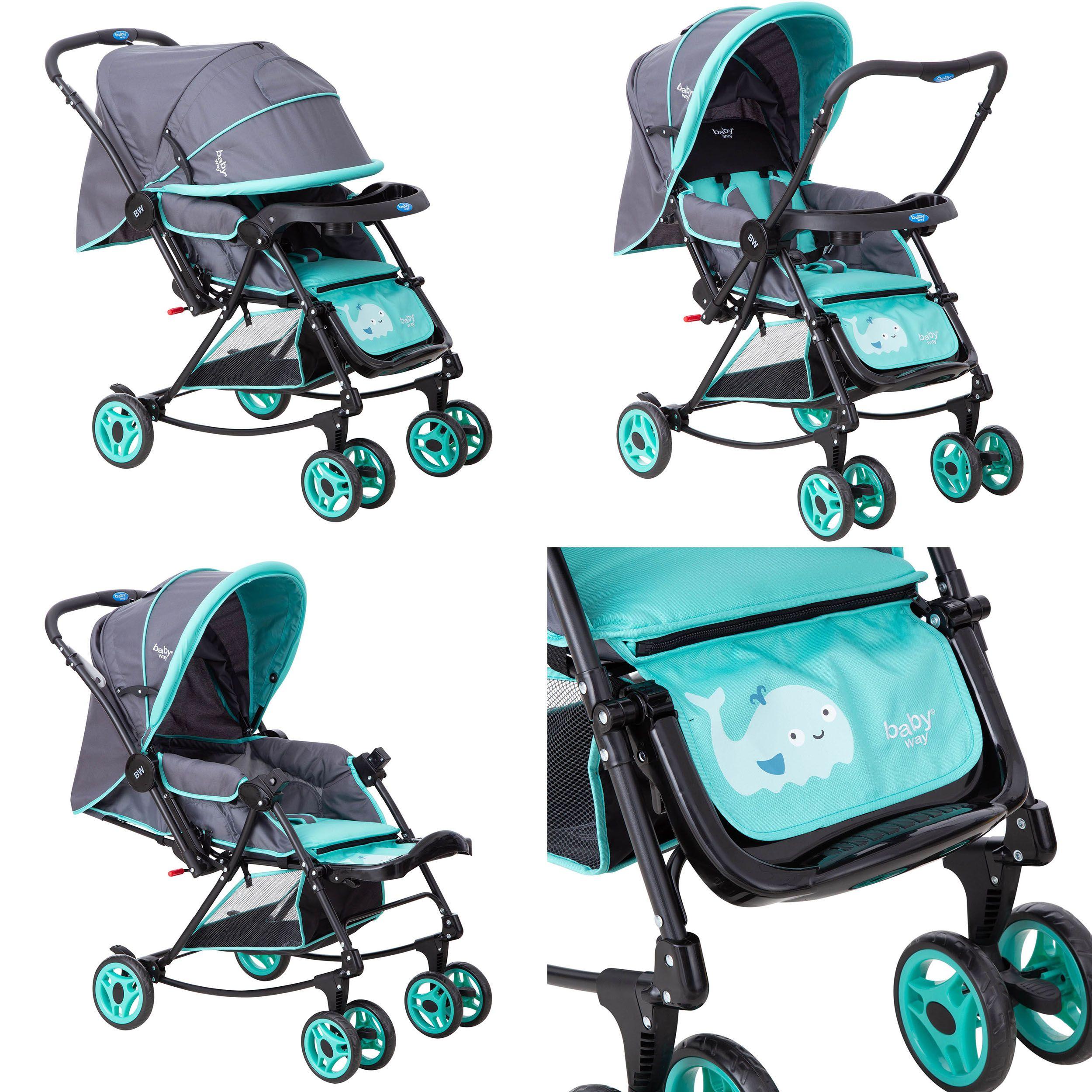 Coche Cuna Balancin Baby Way Turquesa Bw-305T21