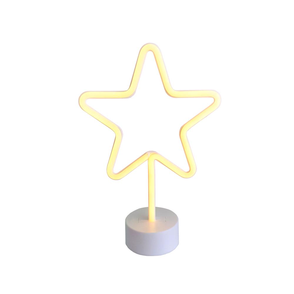 Lámpara Neón LED Estrella Ledzone