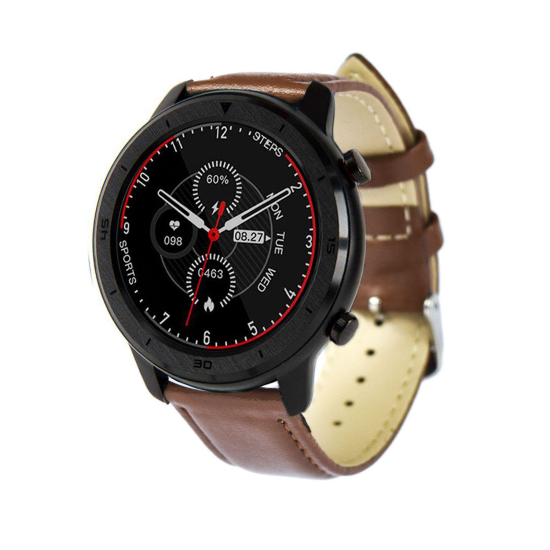 Reloj Smartwatch Lhotse RD7 Cuero Negro Café
