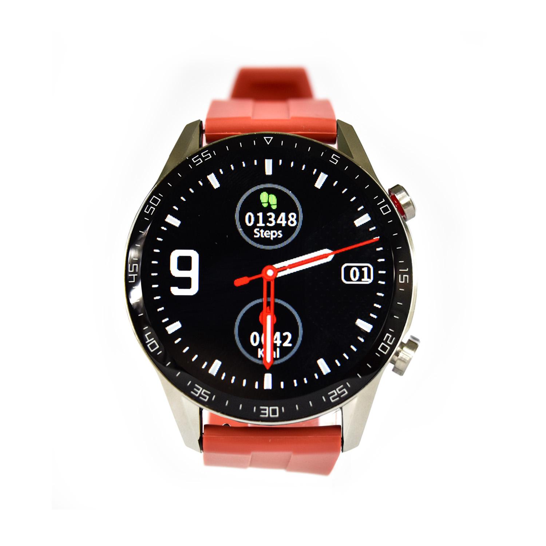 Reloj Smartwatch Lhotse RD9 Dark Silver Rojo