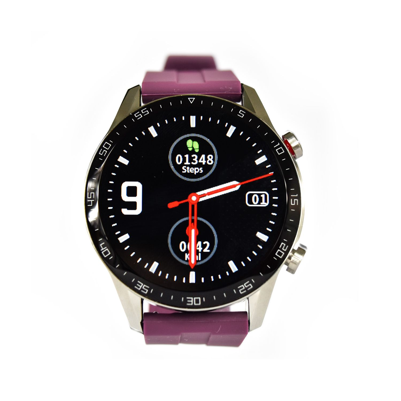 Reloj Smartwatch Lhotse RD9 Dark Silver Morado