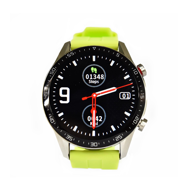 Reloj Smartwatch Lhotse RD9 Dark Silver Verde Limón