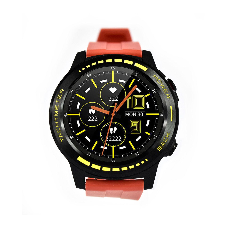 Reloj Smartwatch Lhotse Track M7 GPS Negro Amarillo Rojo