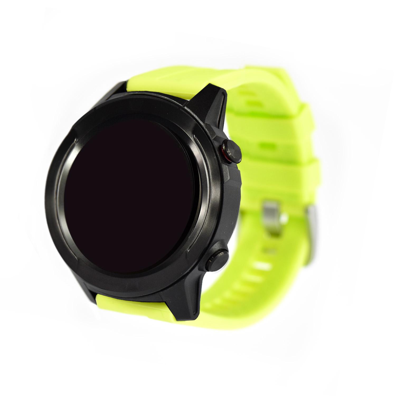 Reloj Smartwatch Lhotse Stone M4 GPS Negro Verde Limón