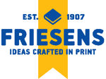 Logo of Friesens, this month's Featured Member