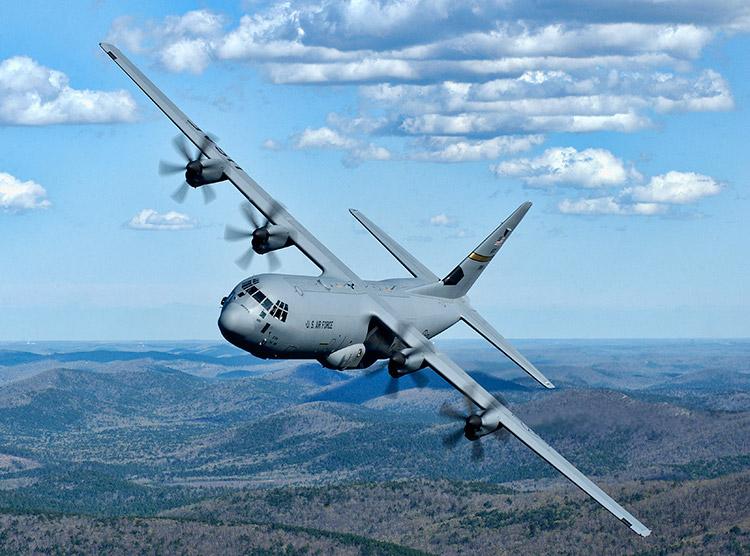 C-130 in Flight