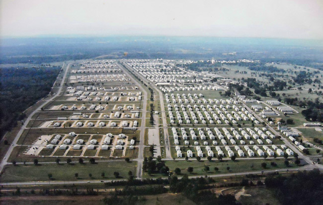 Fort Chaffee, Aerial View