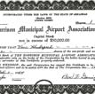 Airport Stock Certificate
