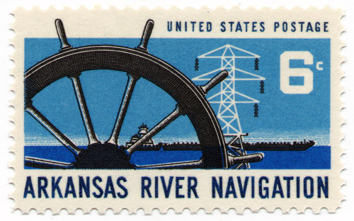 Arkansas River Navigation Project Stamp