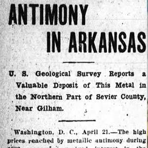 Antimony Mining Article