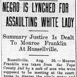 Monroe Franklin Lynching Article