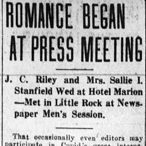 Riley-Stanfield Marriage