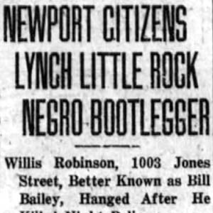Willis Robinson Lynching Article