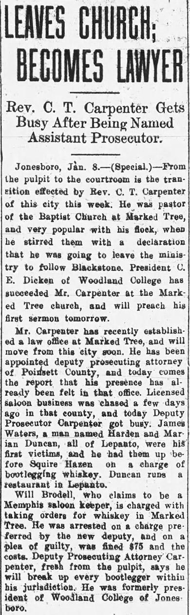 Cornelius Tyree Carpenter Article