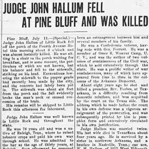 John Hallum Death