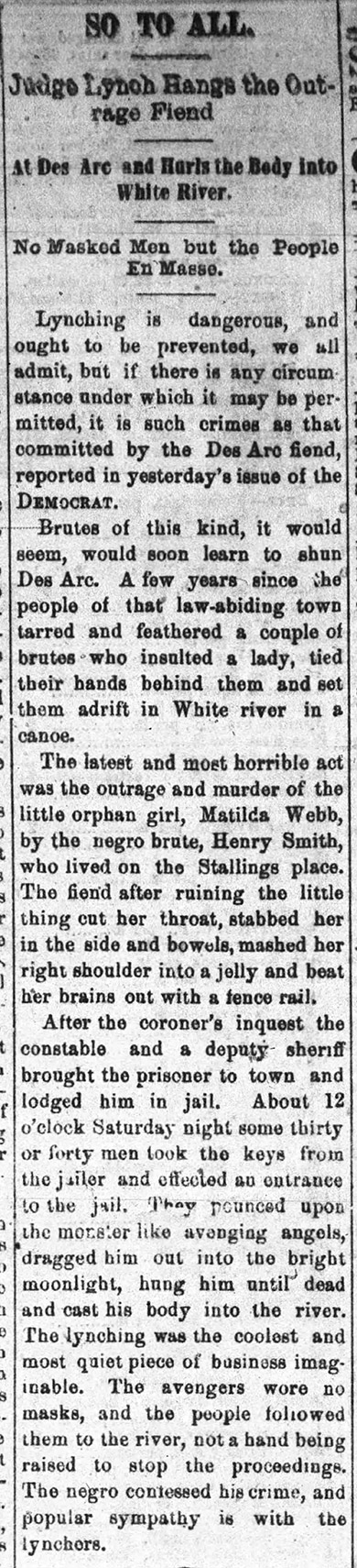 Henry Smith Lynching Article