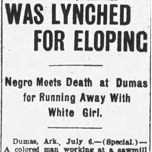 Joe Woodman Lynching Article