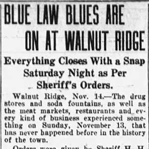 Blue Law Closings