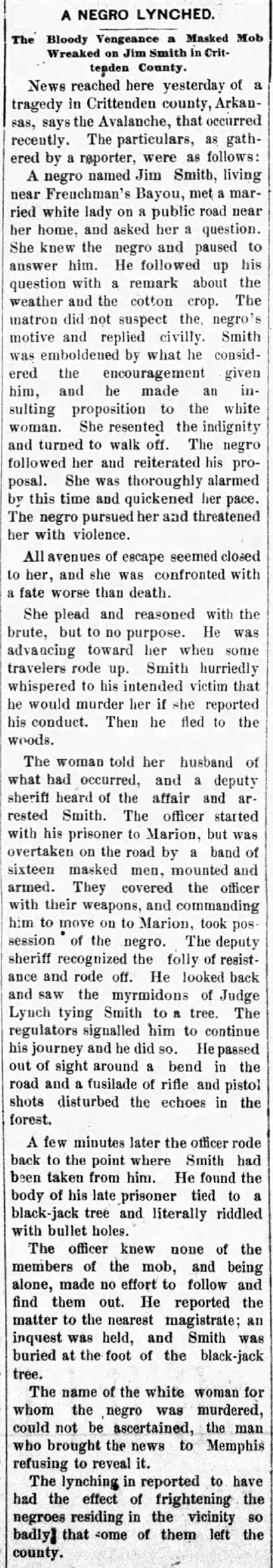 Jim Smith Lynching Article