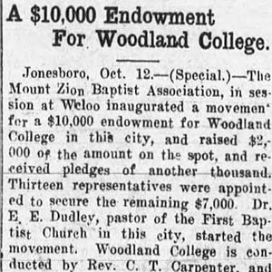 Woodland College Article