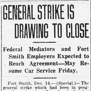 Fort Smith Strike Article