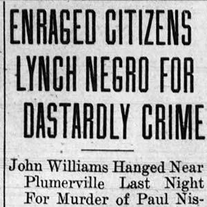 John Williams Lynching Article