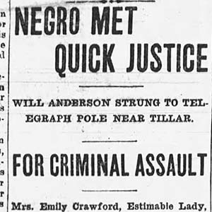William Anderson Lynching Article