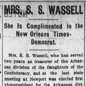 Article about Elizabeth Wassell
