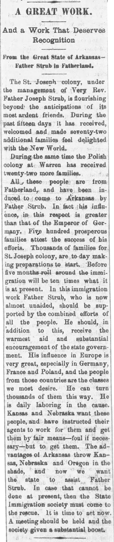 St. Joseph Colony Article