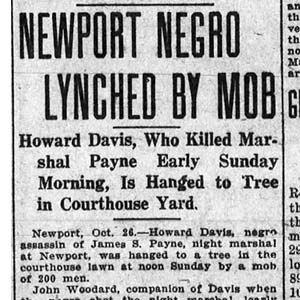 Howard Davis Lynching Article