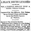 William Beavers Lynching Article