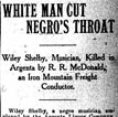 Article about the Argenta Race Riot of 1906