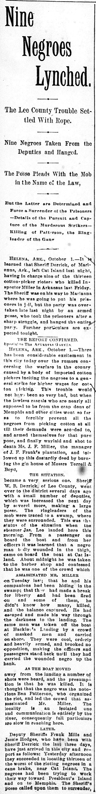 Cotton Pickers Strike Article