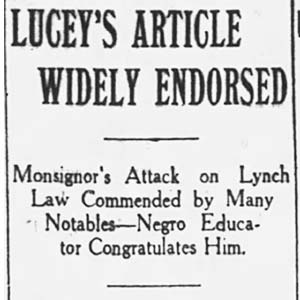 J. M. Lucey Anti-Lynching Article